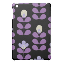 fun floral purple casing cover for the iPad mini