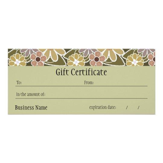 Fun Florals Gift Certificate