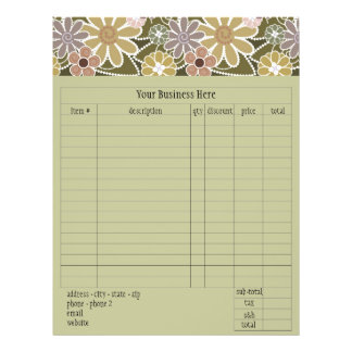 "Fun Florals Order Form 8.5"" X 11"" Flyer"