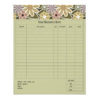 "Fun Florals Small Order Form 4.5"" X 5.6"" Flyer"