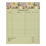 Fun Florals Small Order Form Flyer