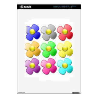 Fun Flower Cartoon ish.. Design iPad 3 Decals