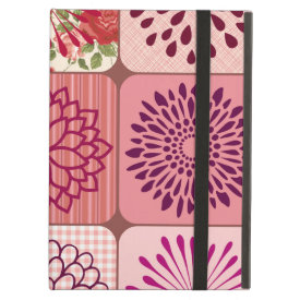 Fun Flower Collage Pink Floral Squares iPad Cases