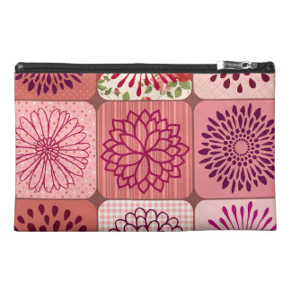 Fun Flower Collage Pink Floral Squares Travel Accessories Bags