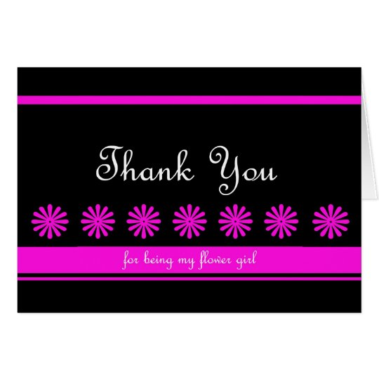 Fun Flower Girl Thank You Card
