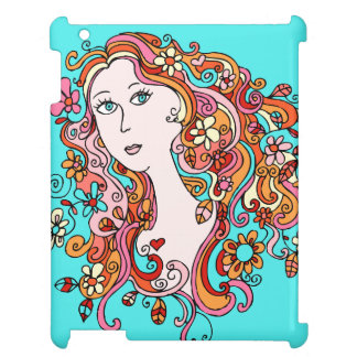 Fun Flower Power Girl iPad Case