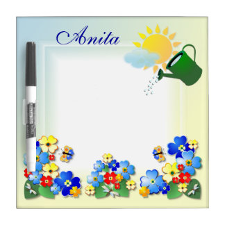 Fun Flowers # 2  ~Dry Erase Board