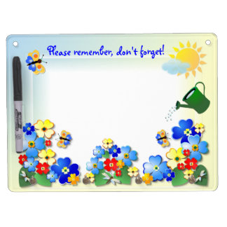 Fun Flowers # 2  ~ Dry Erase Board With Hooks