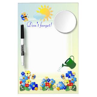 Fun Flowers # 2  ~Dry Erase Board With Mirror