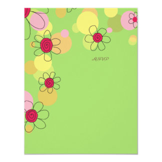 Fun Flowers and Bubbles RSVP Card