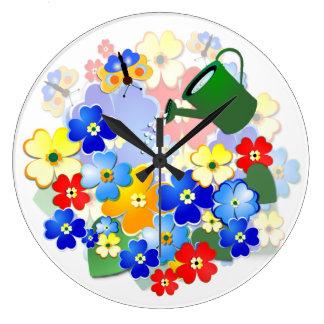 Fun Flowers  ~ Decorative  Clock # 2