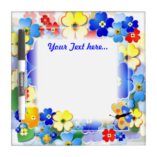 Fun Flowers ~ Dry Erase Board