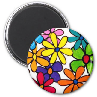 fun flowers magnet