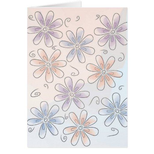 Fun flowers note card