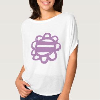 Fun Flowers purple Ladies T-shirt
