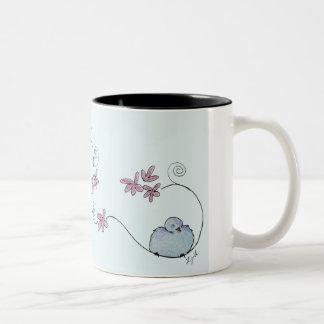 Fun Fluffy Bluebird Mug