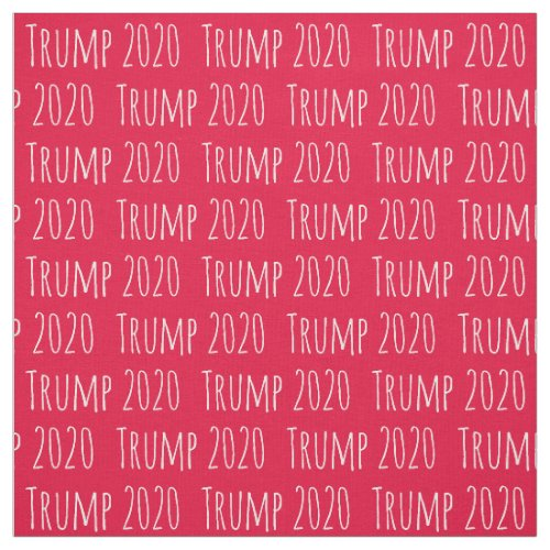 Fun Font Donald Trump 2020 Pattern Fabric