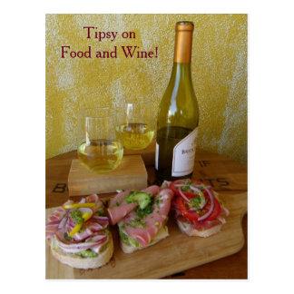 Fun Food and Wine Postcard!