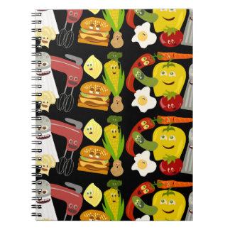 Fun Food Collage Spiral Notebook