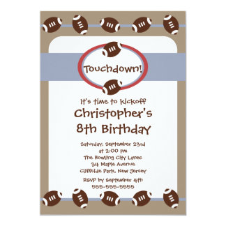 boys football party invitations  announcements  zazzle, Party invitations