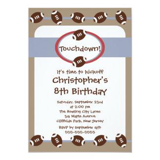 "Fun Football Boys Birthday Party Invitations 5"" X 7"" Invitation Card"