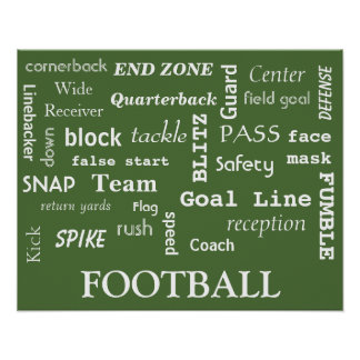 Fun Football Poster! Poster