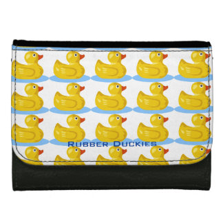 Fun for All Ages Cute Yellow Rubber Ducks Custom Wallets