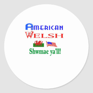 Fun for all those with Welsh pride! Classic Round Sticker