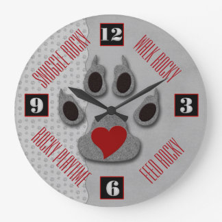 Fun for the Dog Lover's to Tell Time Large Clock