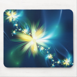 Fun Fractal Flower Mouse Pad