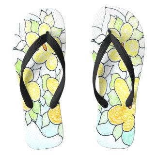 Fun Fresh Floral Flip Flops