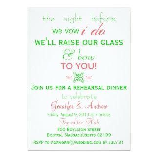 Fun, Fresh Rehearsal Dinner Invitation Mint Green