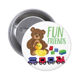 Fun Friends Pinback Button