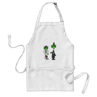 Fun Frog Bride and Groom Wedding Design Adult Apron