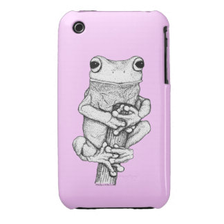 Fun Frog Cartoon Designs for frog-lovers iPhone 3 Case-Mate Case