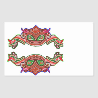 Fun Frog Dance - Alien Monsters by Navin Rectangular Sticker