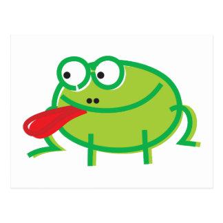 Fun Frog on White Postcard
