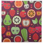 Fun fruit apple peer cherry strawberry pattern printed napkin