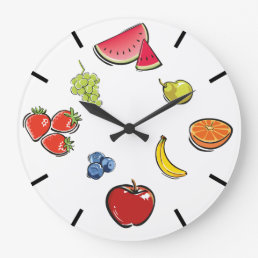 Fun Fruit Clock