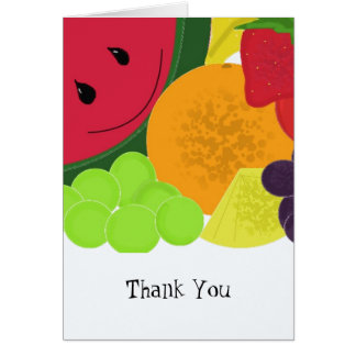 Fun Fruit Explosion Thank You Card