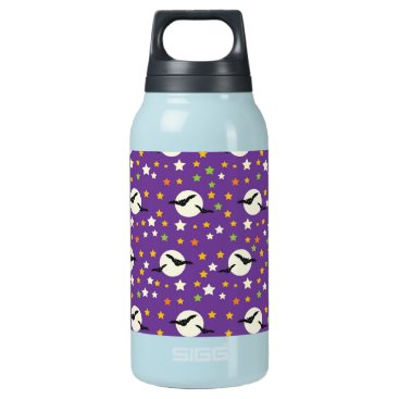 Halloween Themed Fun Full Moon with Spooky Bats and Fun Stars Insulated Water Bottle