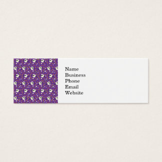 Fun Full Moon with Spooky Bats and Fun Stars Mini Business Card