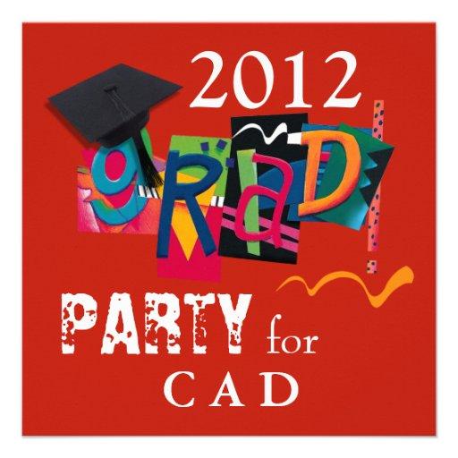 Fun & Funky 2011 Grad Party Invitation