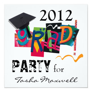 Fun & Funky 2012 Grad Party Invitation