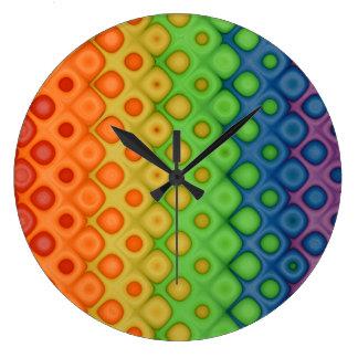 Fun & Funky Artistic Retro Rainbow Bubbles! Clocks