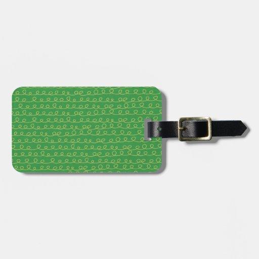 Fun & Funky Green Luggage Tag