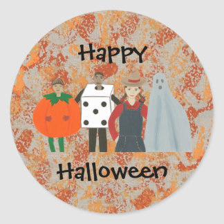 Fun & Funky Happy Halloween Costume Stickers