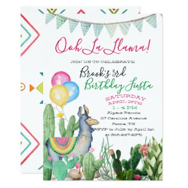 Aztec Themed Fun & Funky Llama Party Card