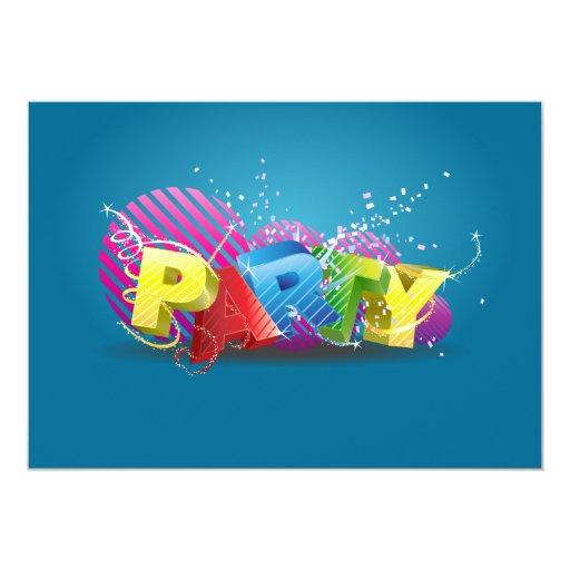 Fun Funky Party Invitation