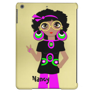 Fun Funky Psychedelic Hippy Chick iPad Air Cases